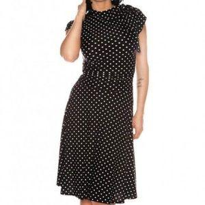 Retrolicious Black Polka Dot Retro Swing Dress